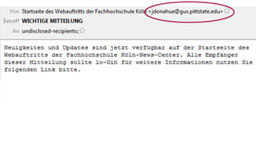 Screenshot einer E-Mail