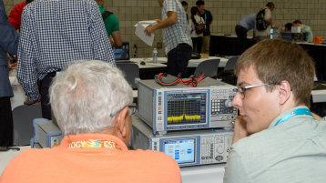 Niklas Bärk während der Messung im Wettbewerb