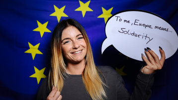 To me, Europe means: solidarity (Bild: Costa Belibasakis/TH Köln)