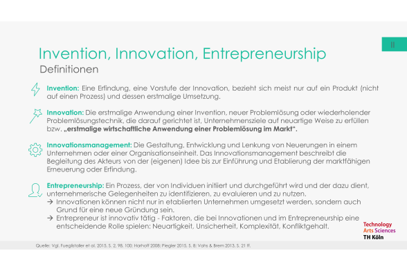 Innovation und Entrepreneurship Folie 4