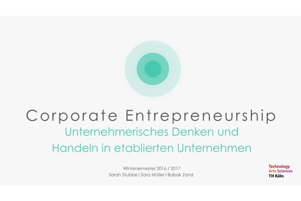 Corporate Entrepreneurship Folie 1