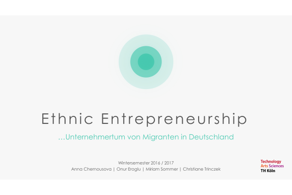Ethnic Entrepreneurship Folie 1