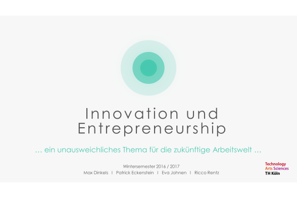 Innovation und Entrepreneurship Folie 1