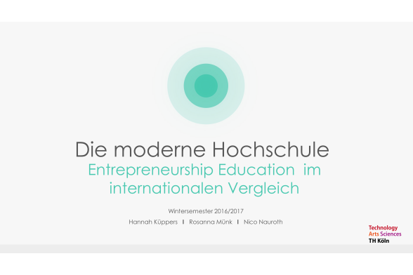 Entrepreneurship Education Folie 1