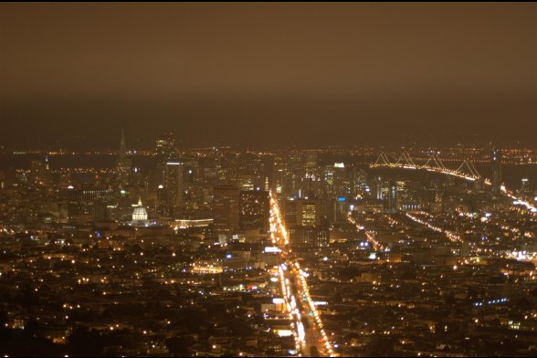 San Francisco From Twin Peaks at Night