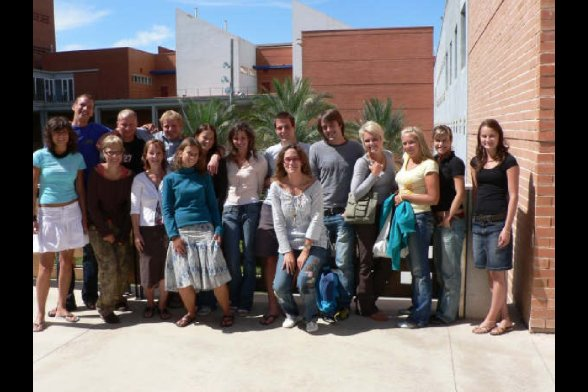 Sprachkursgruppe am Campus Gandia
