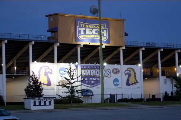 Fassade der Tennessee Tech Football Arena
