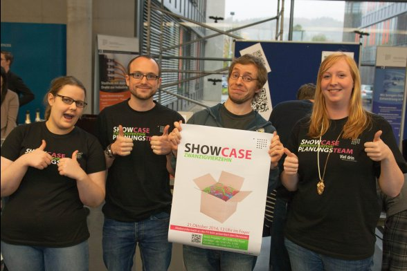 Das Organisationsteam des Showcase 2014