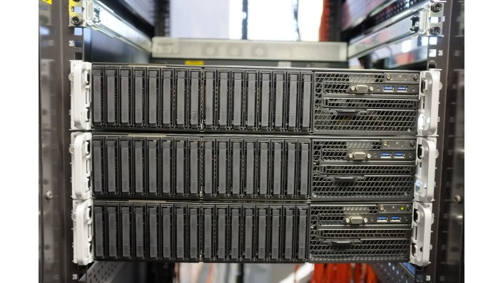 KOARCH Cluster im Rack