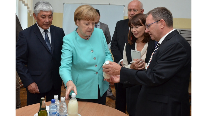 Chancellor Merkel visited the Kyrgyz State Technical University in July 2016