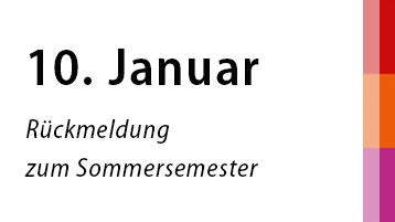 10. Januar: Rückmeldung zum Sommersemester (Bild: TH Köln)