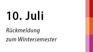 10. Juli: Rückmeldung zum Wintersemester (Bild: TH Köln)